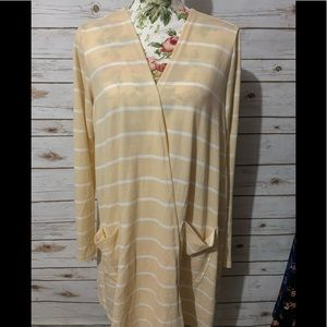 LuLaRoe Caroline Sweater Large Stripes